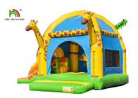 4 In 1 Giraffe Inflatable Jumping Castle With Slide And Obstacle For Outdoor