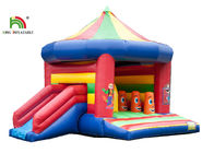 3 In 1 5.2 x 6.9m Blow Up Jumping Castle With Arch And Roof / Kids Inflatable Jumping Slide