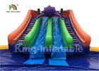 Penguin Blue White Inflatable Blow Up Water Park With 16m Diameter Pool And Slide