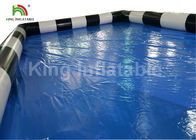 Custom Blue Adult Deep Covers Inflatable Swimming Pools For Rent Commercial Grade