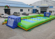 Commercial Grade Inflatable Sports Games For Children / 12 * 6m Inflatable Soccer Field