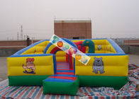 Kids Play Games Inflatable Playground / Fun City with 0.45mm - 0.55mm PVC tarpaulin
