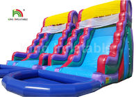 Plato PVC Double Inflatable Water Slide With Swimming Pool 1 Year Warranty