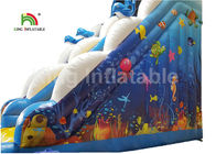 Puncture - Proof Ocean World Dolphin Inflatable Water Slide / Outdoor Inflatable Playground