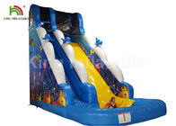 China Puncture - Proof Ocean World Dolphin Inflatable Water Slide / Outdoor Inflatable Playground factory