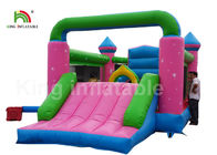 Durable PVC Pink Princess Inflatable Commercial Bounce Houses For Kids Outdoor Activites