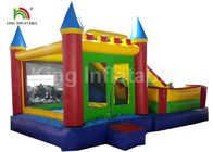 0.55mm PVC Tarpualin 4 In 1 Combo Inflatable Jumping Bouncer With Slide For Kids
