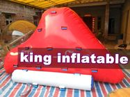 Red Aqua Park Inflatable Water Toys / Rock Slide / Iceberg By PVC For Water Park