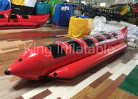 China Red Water Game Banana Boat Inflatable Fly Fishing Boats For Water Racing Sport company