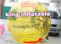 China Customized Yellow Inflatable Water Ball / Inflatable Walk On Water Ball With Logo company