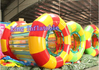 Colorful funny inflatable water roller New style for Water amusing game