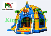 China Yellow / Blue Mutifun Inflatable Jumping Castle With Slide Equipped CE Certificated Blower factory