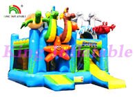 China 0.55mm PVC Tarpaulin Multiplay Inflatable Jumping Castle With Slide And Sea Animals factory
