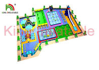 Digital Printing Blow Up Water Park Plato PVC Tarpaulin With 0.65mm - 0.9mm  UV Resistant