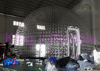 Dome Custom Inflatable Bubble Tent , Overall Transparent Inflatable Yard Tent