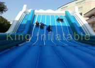 China Width Grey Blue Inflatable Dry Slide Waterproof Tarpaulin Double Climbing Ladders company