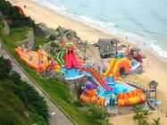 China Multiplay Blow Up Water Playground With Mattress 24 Months Warranty factory