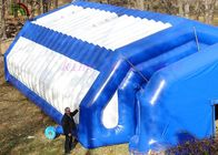 Durable PVC Outdoor Giant Inflatable Event Tent White / Blue Color