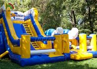 China Tropic Dolphin Theme Blow Up Combo Play Park For Backyard Fun factory