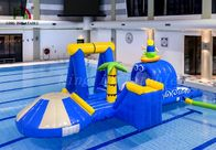 Blue / Yellow Surfing Boy Inflatable Water Parks Durable PVC Multipurpose Course