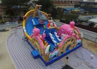 China Multicolored PVC Blow Up Combo Play Playground Ocean World Park For Amusement factory