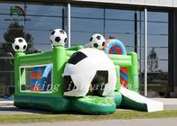 China Colorful Tarpaulin Inflatable Football Bouncer Combo Soccer Dry Slide And Obstacles company