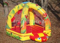 China Mini Commercial Bounce Houses Bright Color Arch Tube With Net Model factory