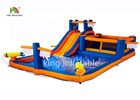Inflatable Mini Backyard Monkey Bar Slides For Child / 4.5*8m Pool Water Slide