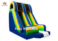 Blue Inflatable Dry Slip And Slide PVC Tarpaulin Pool Side Entertainment