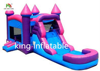 China Pink Girl Gaint Infltable Bounce House Dry Slide Commercial With CE Blower factory