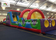 Customized Small PVC Inflatabel Obstacle Sport Games With Slide For All Ages
