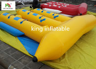 Customized 6 Seater Inflatable Sport Fly Fishing Boats Yellow Durable