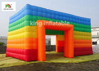 China EN14960 Rainbow Inflatable Event Tent 4m Colorful Oxford For Commercial company