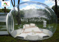 China 4.5m Transparent Inflatable Bubble Tent With Tunnel For Outdoor Camping Rent factory