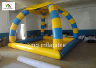 China Outdoor Sports Summer Inflatable Water Pools In Rectangle Shape With Tent company