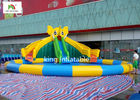 China Elephant PVC Inflatable Water Park With Swimming Pool For Kids 1 Year Warranty factory