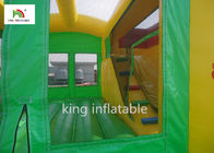 Colorful Amusement Inflatable Jumping Castle With Slide For Toddler Oxford CE Blower