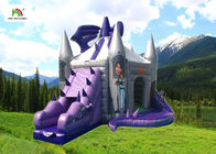 China Purple Dragon Inflatable Jumping Castle With Slide For Birthday company