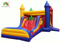 China Waterproof Inflatable Bouncy Castle With Slide For Commercial 1 Year Warranty factory