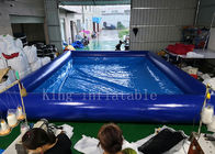 China Blue Color 42 Square Meters Inflatable Swimming Water Pool Fire Resistant factory