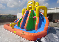 Yellow Inflatable Pool Slides For Inground Pools 8*6*6m CE EN14960 SGS EN71