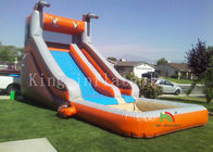 Outside Playground Inflatable Water Slide With Mini Pool For Summer CE UL