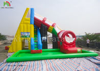 Protecting Net Red Color Inflatable Pool Water Slide For Backyard EN14960 EN71