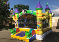 Yellow Outdoor Playground Inflatable Jumping Castle For Kids / Indoor Bouncy Castle