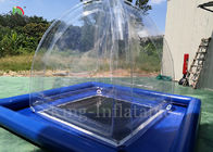 Transparent Airtight Inflatable Camping Bubble Tent 2.4mL*2.4mW*2.5m H