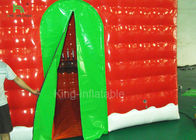 Red Inflatable Christmas House For Festival Decoration One Year Warranty