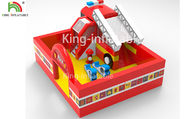 Fire Fighting Truck Theme Inflatable Jumping Bouncer Castle For Commercial Amusement