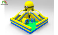 Yellow Minions Indoor Bouncy Inflatable Jumping Castle Obstacle Dry Slide OEM