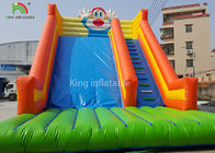 Rabbit Shape Inflatable Water Slide With Logo Printed Outside Entertainment