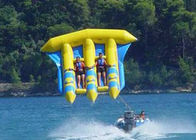 China Exciting PVC Inflatable Fly Fishing Boats Banana Shape for 3 - 6 Person Aqua Games company